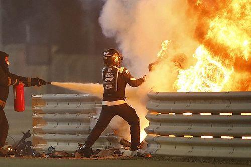 Grosjean miał szczęście w nieszczęściu