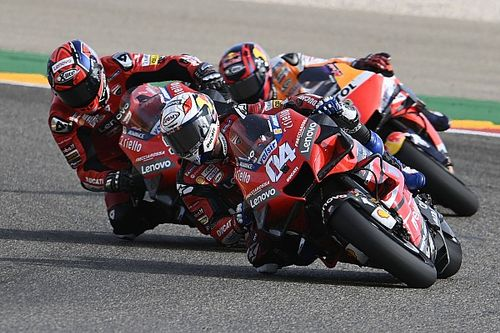 """Dovizioso """"completely finished"""" rear tyre in Teruel GP"""