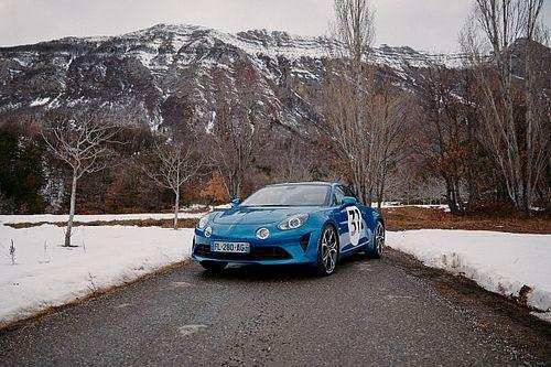 Ocon met Alpine A110S in actie tijdens Rally van Monte Carlo