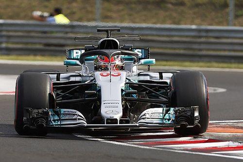 Le Halo de retour avec Mercedes lors des essais du Hungaroring