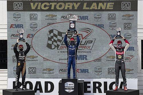 O'Ward logra su primer podio en IndyCar, Rosenqvist gana