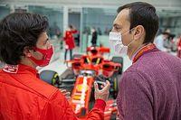 Carlos Sainz Tuntaskan Tes Perdana Ferrari Menggunakan Simulator