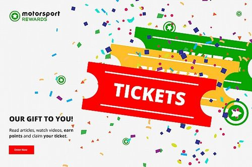 Motorsport Rewards: Chance to receive $100 for tickets