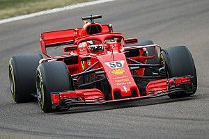 Sainz completó 118 vueltas en su debut con Ferrari