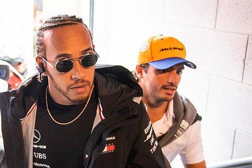 Sainz: Hamilton ook 'zonder cijfers' een van beste coureurs ooit