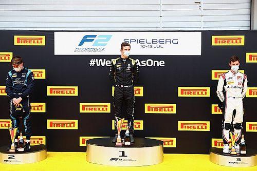 Austria F2: Lundgaard gana y Schumacher protagoniza el drama
