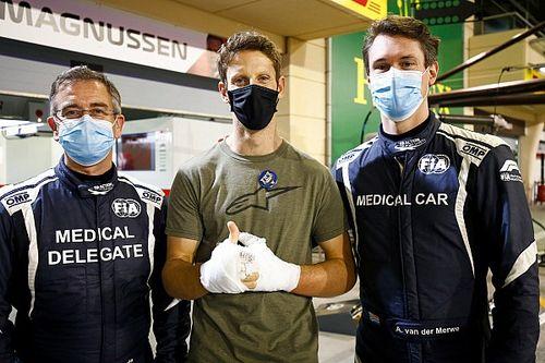 El emotivo reencuentro de Grosjean con quienes le salvaron la vida