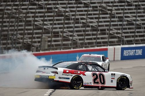 Harrison Burton spins, then wins dramatic Texas Xfinity race
