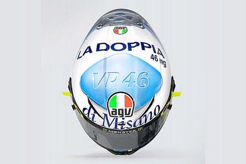 Rossi lleva 'viagra' en su casco para Misano