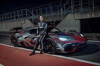 Hamilton drives Mercedes-AMG One hypercar after work
