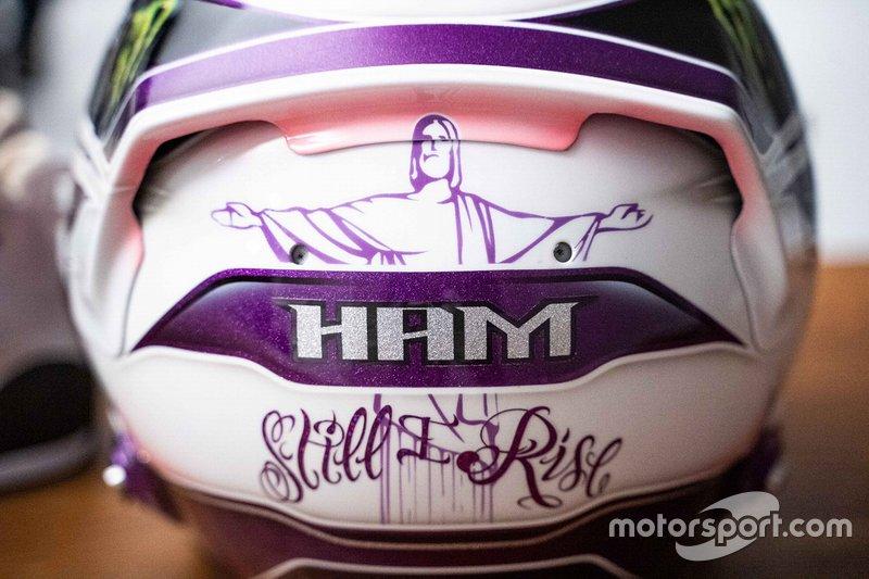 Le casque de Lewis Hamilton