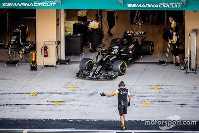 Alonso Renault Abu Dhabi test