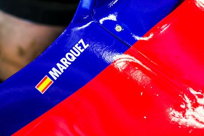 Test de Marc Márquez dans la Toro Rosso