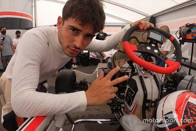Séance de karting pour Charles Leclerc