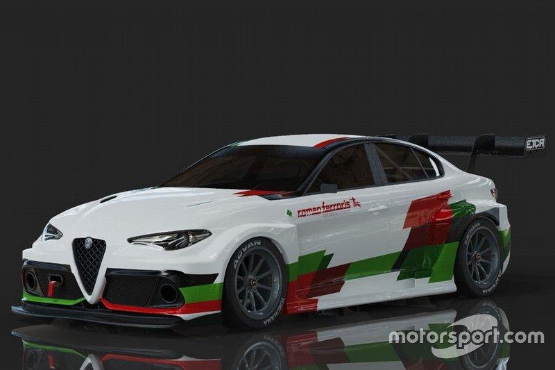 Объявление о проекте Alfa Romeo Giulia ETCR