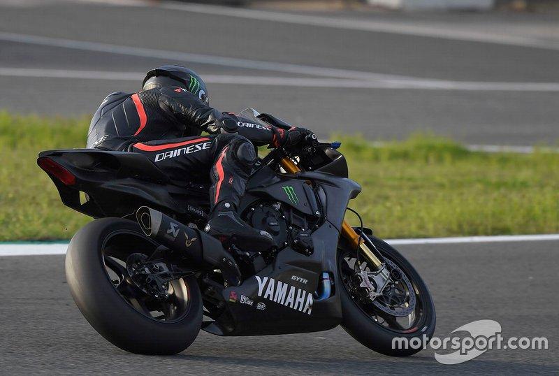 Hamilton Yamaha Jerez testing