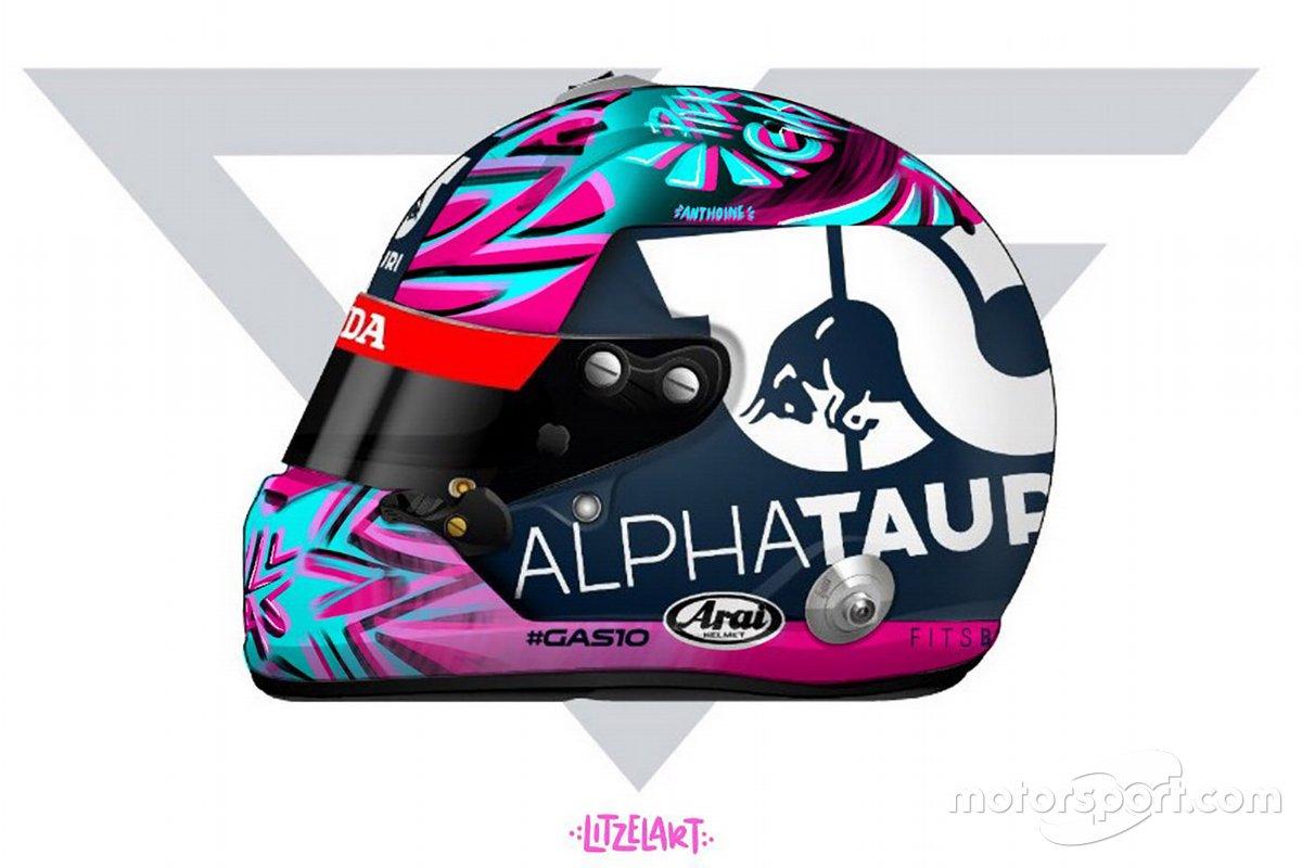 Pierre Gasly helmet unveil
