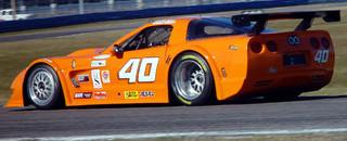 Grand-Am Brumos Fabcar on top on Daytona day 2