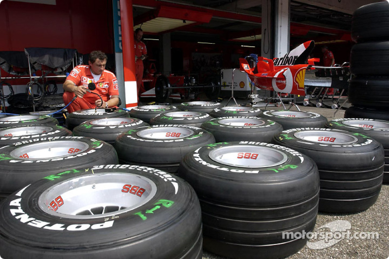 The Bridgestone and Ferrari partnership