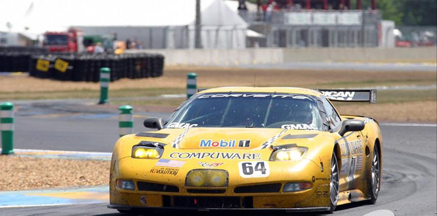 Corvette in front in GTS class