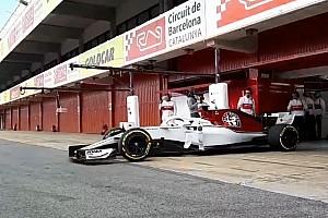 Новая машина Sauber впервые выехала на трассу