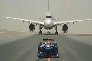 Fórmula E Noticias Vídeo: la Fórmula E celebra el patrocinio de Qatar Airways con una carrera entre ambos
