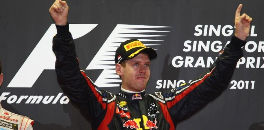 Vettel victorious in Singapore GP mayhem