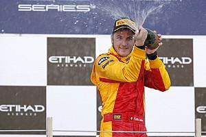 FIA F2 Leimer dominates Feature race at Abu Dhabi on Yas Marina Circuit