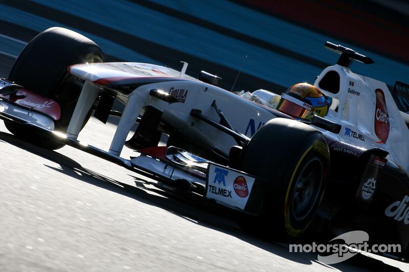 Sauber Abu Dhabi young driver test Wednesday report