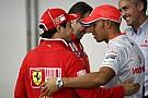 Hamilton hugs Massa as feud and bad season ends
