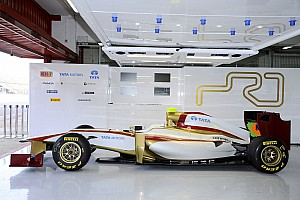 Formula 1 Spanish team HRT's car made in Germany