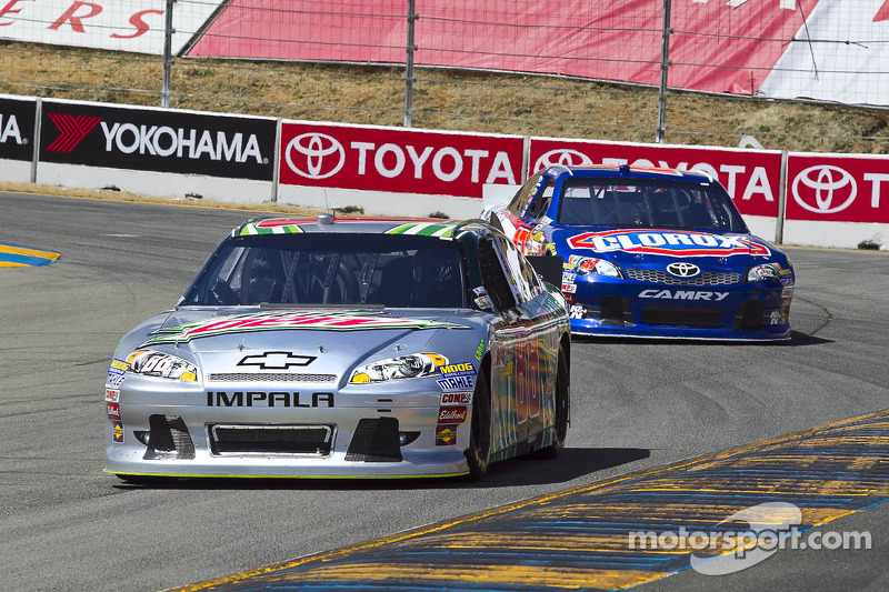 Dale Earnhardt Jr. victimized at the end of Sonoma event