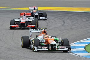 Formula 1 Race report Force India picked up two hard-earned points in German GP
