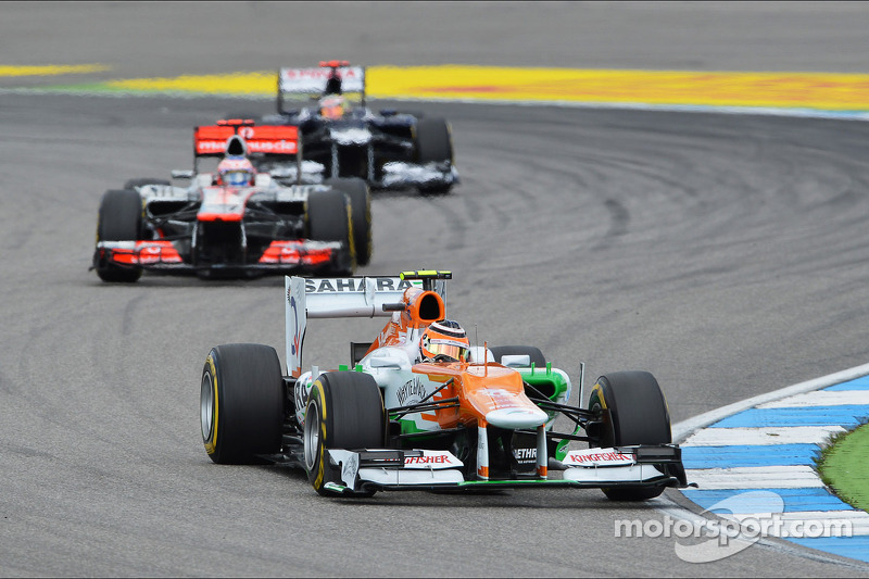 Force India picked up two hard-earned points in German GP
