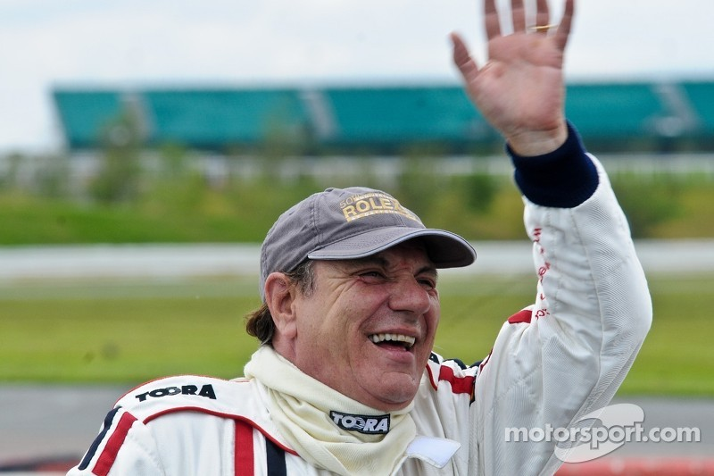 Brian Johnson of AC/DC Gung-Ho racing driver