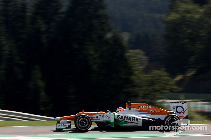 Di Resta qualified in tenth place for Belgian Grand Prix
