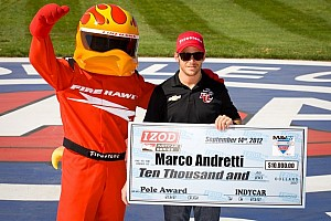 IndyCar Qualifying report Andretti takes pole for 500 mile race at Auto Club Speedway in Fontana