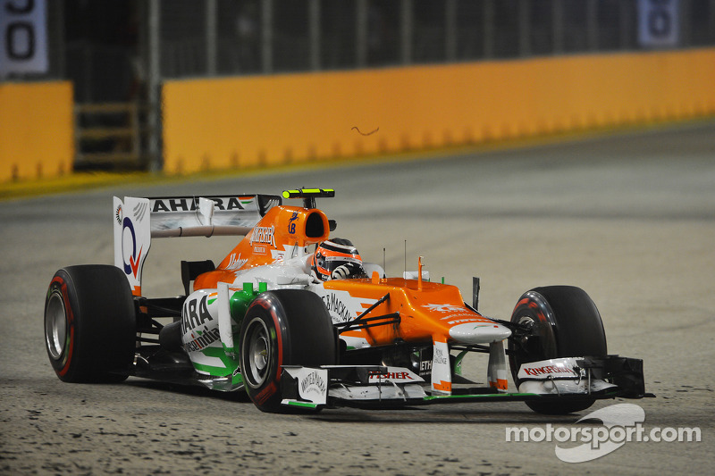 Sahara Force India inside the top eight in first day practice in Singapore