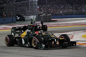 Formula 1 Race report Not a good night for Caterham at Marina Bay Street Circuit