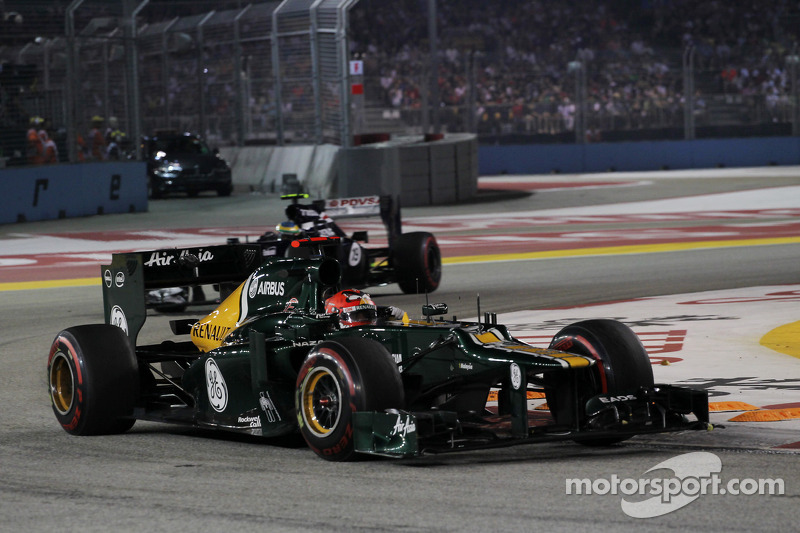 Not a good night for Caterham at Marina Bay Street Circuit