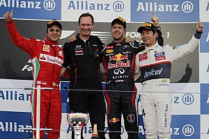 Formula 1 Race report Vettel dominates in his Red Bull Renault for Japanese GP victory