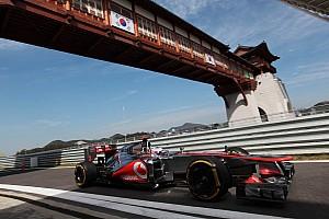 Formula 1 Practice report McLaren quotes about Korean GP Friday practice