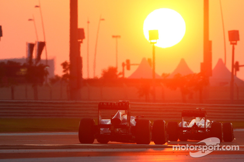 Both Red Bull drivers like of the twilight element on Abu Dhabi race
