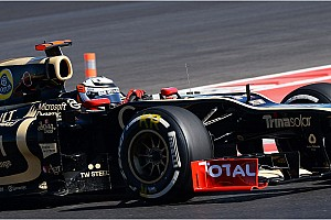 Formula 1 Race report Lotus took a formation finish with Räikkönen in 6th and Grosjean 7th in the US GP