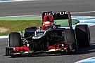 Grosjean on top in Jerez, Hamilton takes a ride into the barriers