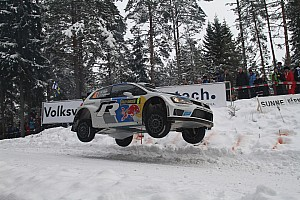 WRC Leg report Ogier places his Polo R in the lead in Sweden's leg one