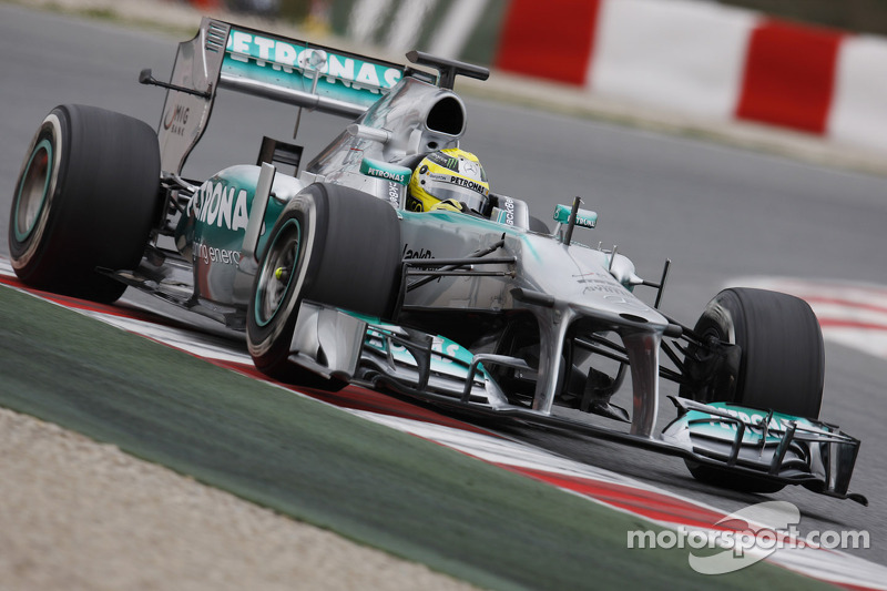 Rosberg sets fastest time on first day of testing in Barcelona