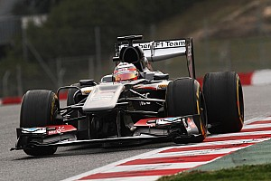 Formula 1 Testing report Hülkenberg and Sauber team pleased with day three's testing on Circuit de Catalunya