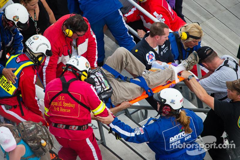 Medical update on injured spectators during NNS race in Daytona