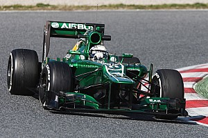 Formula 1 Testing report Caterham's Van der Garde is happy after his final day of testing in Barcelona